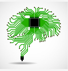 Abstract technological brain cpu circuit board vector