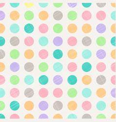 Abstract vintage polka dots circles pattern vector