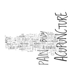 Acupuncture is it a safe alternative text word vector