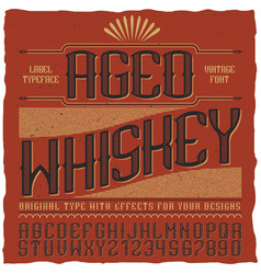aged whiskey vintage label poster vector image