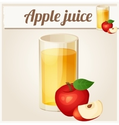 Apple juice Detailed Icon vector image