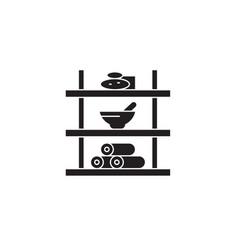 bathroom shelf black concept icon bathroom vector image