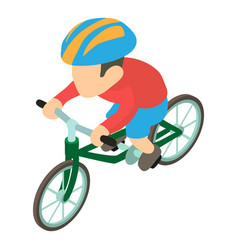 bicyclist icon isometric 3d style vector image