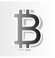 Bitcoin sign new year blackish icon on vector