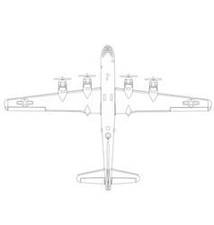Boing b-29 superfortress top vector