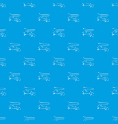 Brisk lizard pattern seamless blue vector