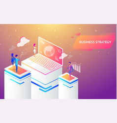 business people working together and developing a vector image