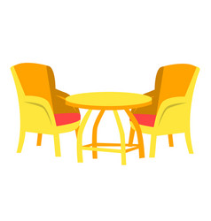 cafe furniture chair and table restaurant vector image