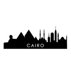 Cairo skyline silhouette black cairo city design vector