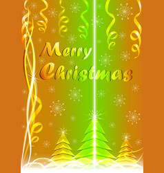christmas card with a beam of light vector image
