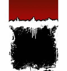 cityscape ink splatter frame background vector image