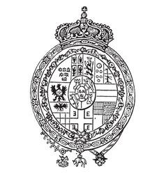 coat arms spain vintage vector image