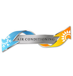 Cooling and heating air conditioner symbol vector