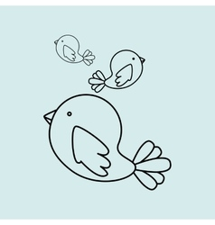 Cute birds design vector