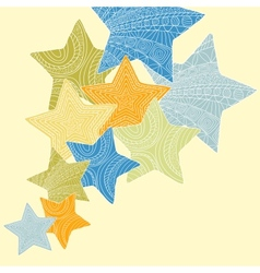 decorative ornate stars vector image
