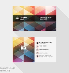 Design Modern Creative and Clean Business Card vector image