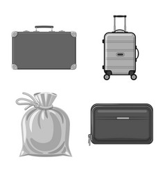 Design of suitcase and baggage logo vector
