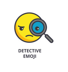 detective emoji line icon sign vector image