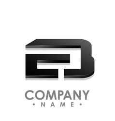 Eb letter logo design template e letter logo vector