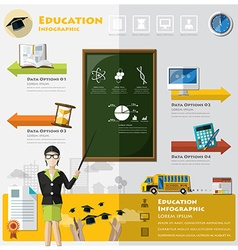 Education And Graduation Learning Infographic vector image