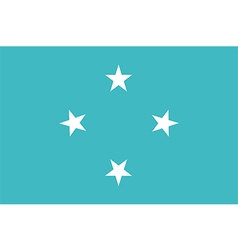 Flag federated states micronesia vector