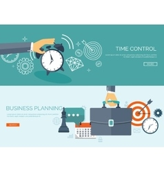 Flat business background Portfolio Time vector image