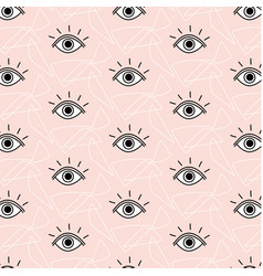 Funny opened eyes pattern simple cute vector