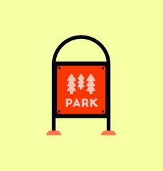 garden sign vector image