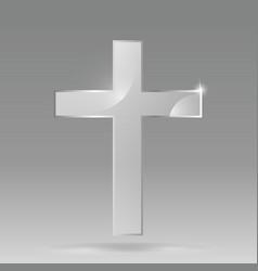 glass transparent christian cross christian vector image
