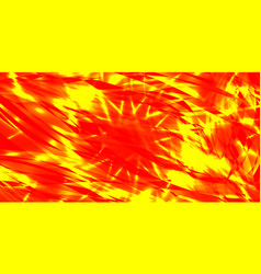 glowing exploded background of red and yellow vector image