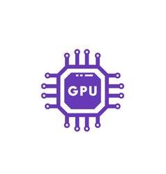 Gpu icon graphic chipset vector