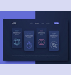 Graphic infographics template for creating mobile vector