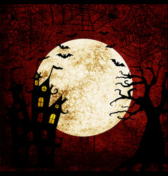 halloween bloody red background vector image