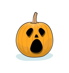 Halloween Cry Pumpkin vector image