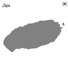 High quality map province of south korea vector
