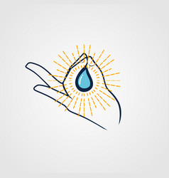 holy water logo sign symbol icon vector image