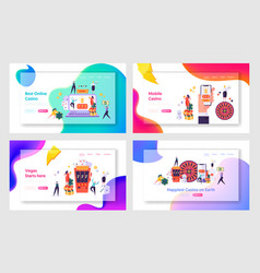 Internet casino services and mobile apps website vector
