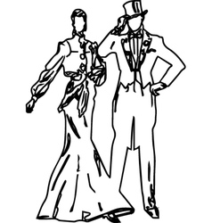 Ladies and gentlemen 19th century fashion vector image