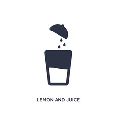 Lemon and juice drop out icon on white background vector