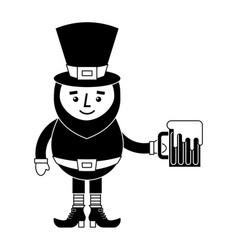 leprechaun character holding beer vector image