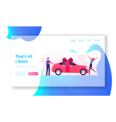 Luxury automobile gift for girlfriend website vector