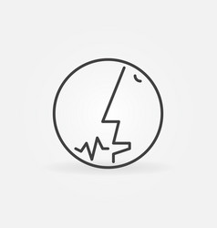 man speaking line icon human head with sound wave vector image