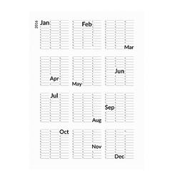 Minimalistic creative calendar 2016 vector