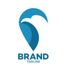 modern bird eagle and map logo vector image