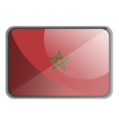 morocco flag on white background vector image