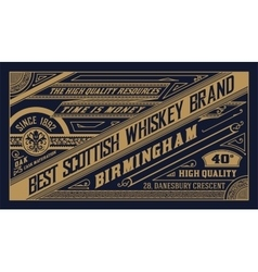 Old label design for Whiskey vector image