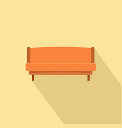 orange small sofa icon flat style vector image