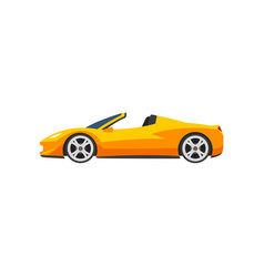 Orange sports racing car supercar side view vector