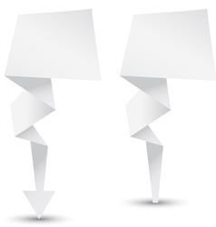 Origami arrow vector