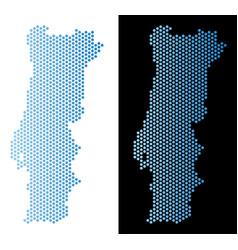 Portugal map honeycomb scheme vector